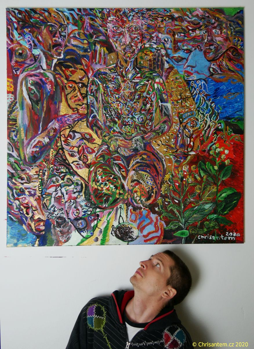 "Obraz ""Mapacho Elohim"", 100×100 cm, únor 2020"